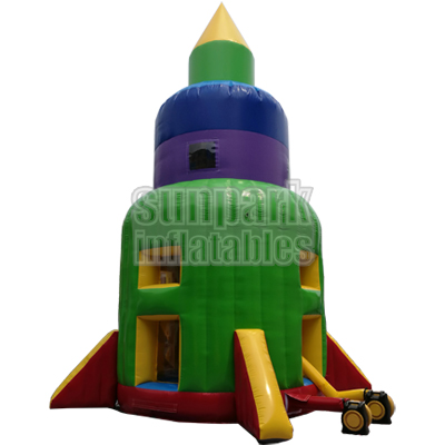 Inflatable Rocket Parachute Ride (1)