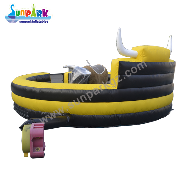 Mechanical Bull Riding Inflatable Bed (3)