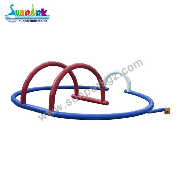 Inflatable Race Car Track Zorbing Circuits (2)